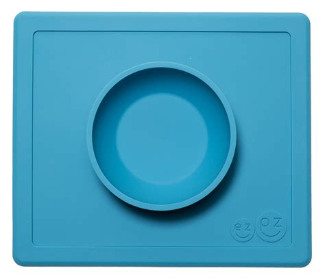 Ezpz Happy Mat Blue ezpz happy mat one silicone placemat