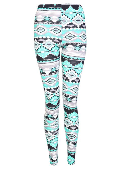 aztec pattern leggings outfit multicolour aztec print leggings womens from missrebel co uk