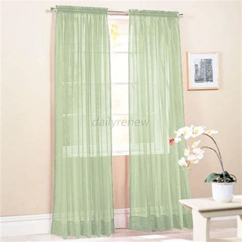 multi color sheer curtains multi color door room voile window curtain sheer panel