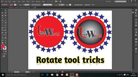 illustrator tutorial rotate tool how to use rotate tool in adobe illustrator illustrator