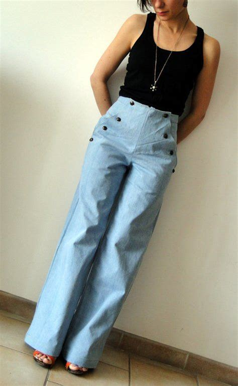 pattern high waisted jeans best 25 sailor pants ideas on pinterest wrap pants