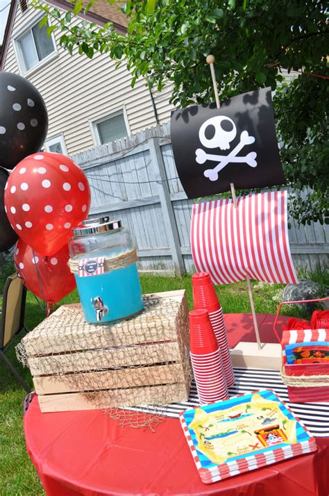 Decoration Theme Pirate by Pirate Mast Cupcake Toppers Boys Pirate Birthday
