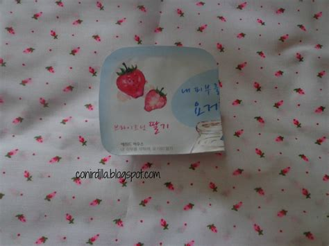 Masker Etude Strawberry my obsession review muestras terminadas