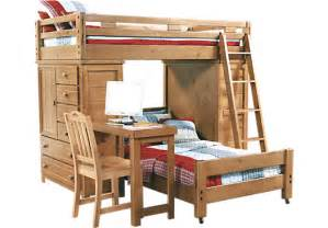 picture of creekside taffy student loft bed w