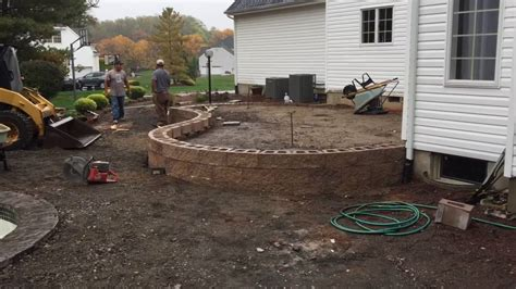 building a patio with pavers building a raised paver patio