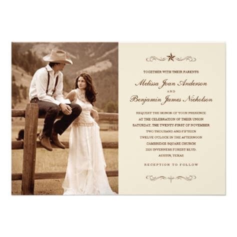 Western Wedding Invitations by Vintage Western Photo Wedding Invitations 5 Quot X 7