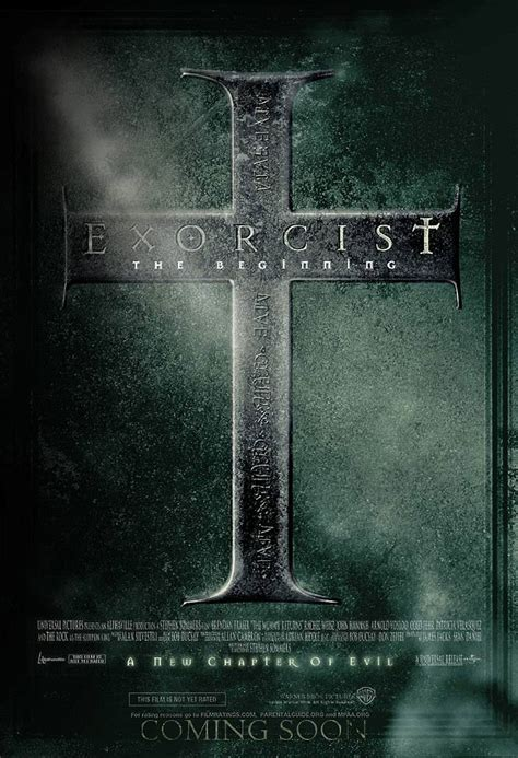 film online exorcist the beginning exorcist the beginning movie poster 2 sided original final