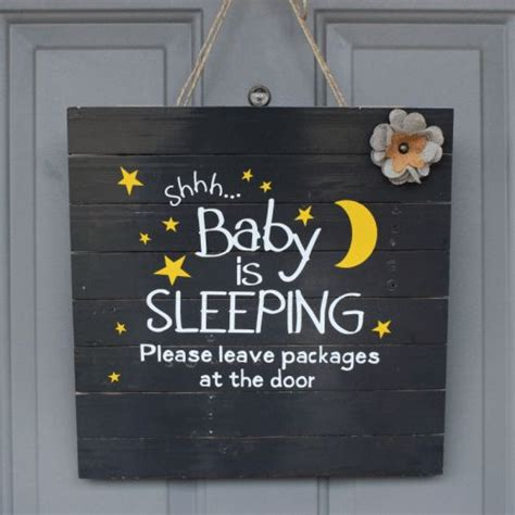 Baby Sleeping Sign For Front Door 1000 Ideas About Baby Sleeping Sign On Baby Baby Sleep And Nurseries