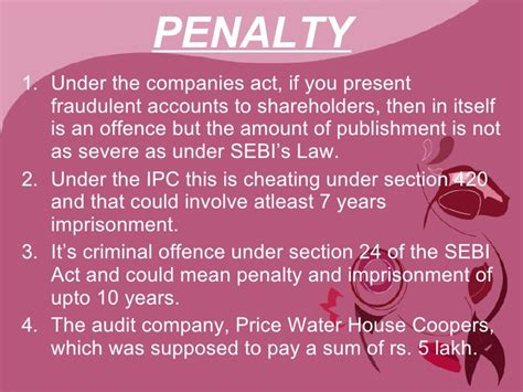 ipc section for cheating satyam should wind up or not