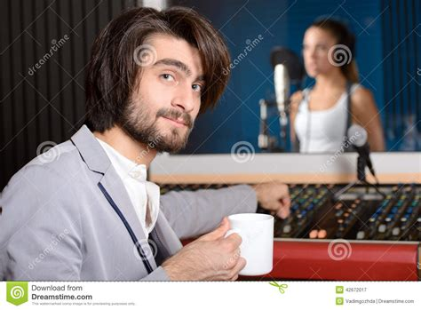 Studio Technician by Recording Studio Stock Photo Image 42672017