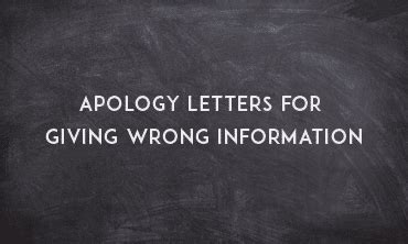 Apology Letter To Customer For Giving Wrong Information apology letter for giving wrong information sle letters
