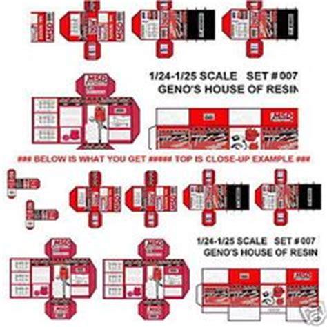 printable garage diorama details about 1 24 firebird transam decals 2 for diecast