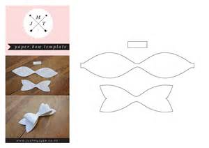 template of a bow just my type paper bow template just my type