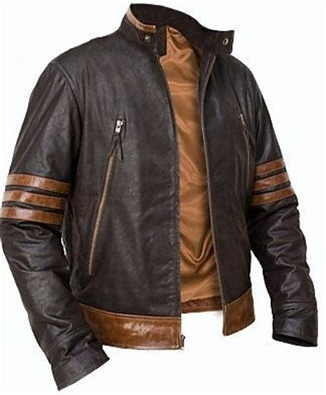 Jaket Kulit Wolverine By E Shop 26 studded leather jacket brown leather jackets and leather