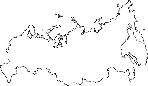 coloring page map of russia russia outline map
