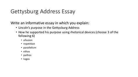 The Gettysburg Address Essay by Informative Essay Notes
