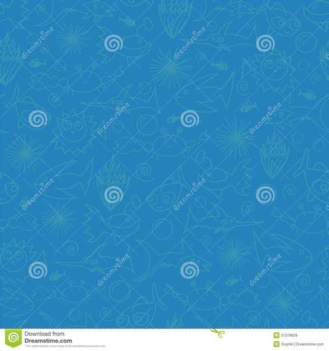 underwater pattern background underwater seamless pattern stock illustration image
