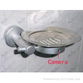 hd bathroom spy camera stainless steel soap box camera dvr