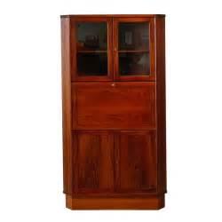 Corner Cabinet Desk Rosewood Corner Cabinet With Drop Front Desk At 1stdibs