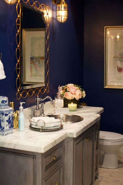 Navy Blue Bathroom by 25 Best Ideas About Blue Powder Rooms On Bathroom Colors Blue Diy Blue Bathrooms