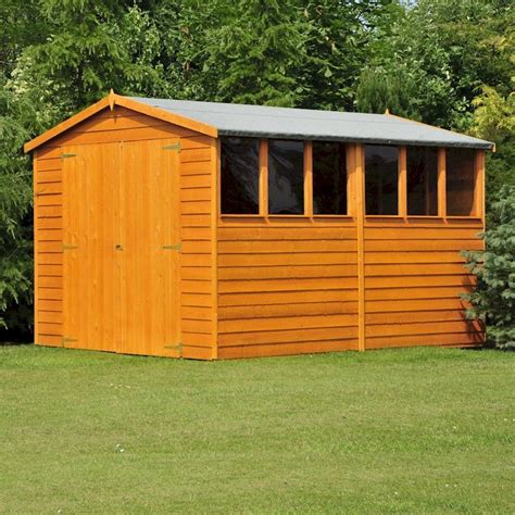 12 By 6 Shed Shire Overlap Garden Shed 12x6 With Doors One Garden