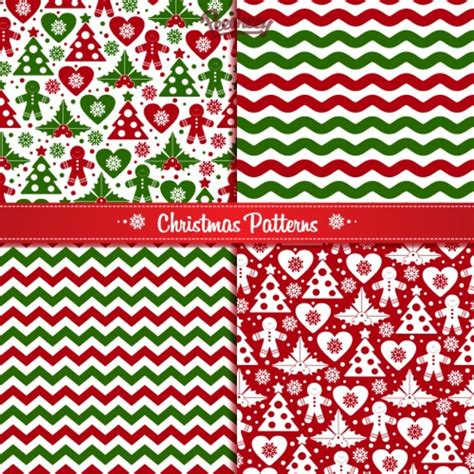 Christmas Pattern Ai | set of seamless christmas patterns free vector in adobe