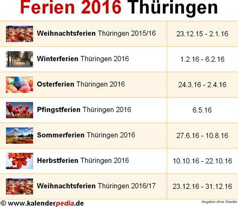 wann sind schulferien ferien 2016 in th 252 ringen b 252 rozubeh 246 r