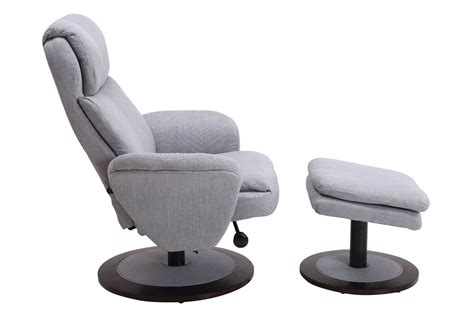 light grey recliner chair denmark light grey fabric swivel recliner with ottoman