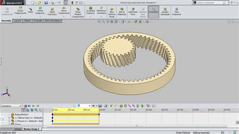solidworks tutorial helical gear helical gear internal with animation video tutorial
