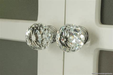 k9 clear knob chrome glitter knob kitchen cabinet