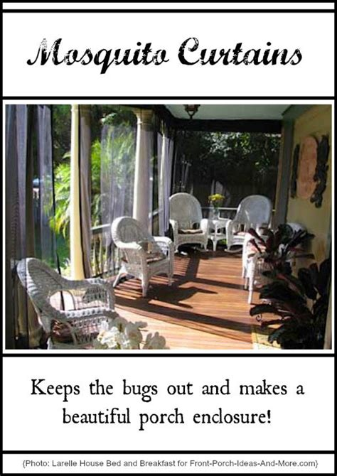 How To Keep Mosquitoes Away From Front Door Mosquito Curtains Make For Easy And Affordable Porch Enclosures