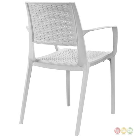 patterned armchair astute modern plastic criss cross patterned low back dining armchair gray