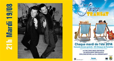 swing brothers les swing brothers d 233 barquent 224 jazz transat zig zag mag