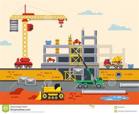 design concepts expert contractors building construction flat design vector concept stock