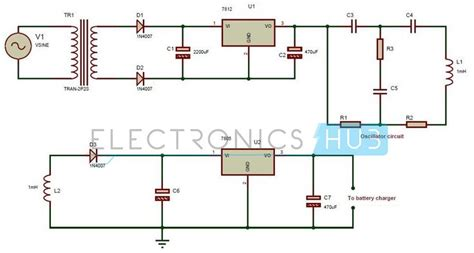 wireless power circuit diagram wireless power transfer circuit circuit diagram charger