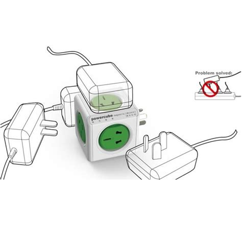 Allocacoc Power Cube Wireless Electric Socket 2500w Murah 5 Allocacoc Power Cube Wireless Electric Socket 2500w 4