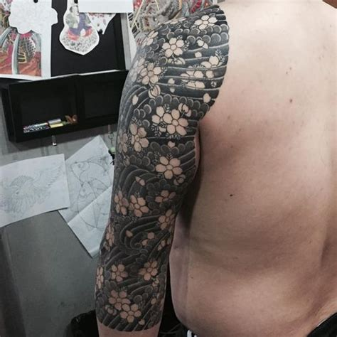 black and white cherry blossom tattoo top 30 japanese cherry blossom designs