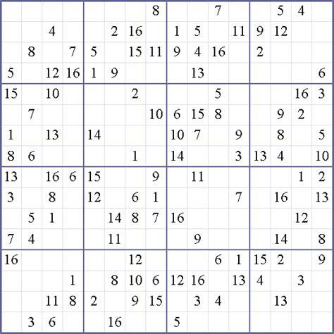 printable sudoku 16x16 16x16 printable sudoku wallpapers pictures
