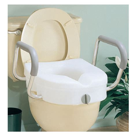 supplies toilet seat handles carex ez lock raised toilet seat with adjustable handles