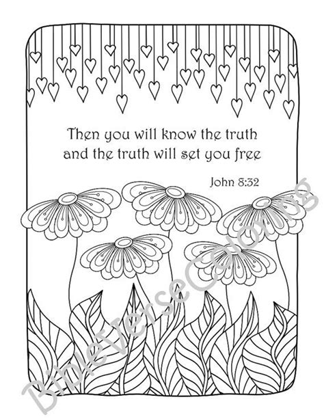 scripture coloring pages 5 bible verse coloring pages pack 10 simple by