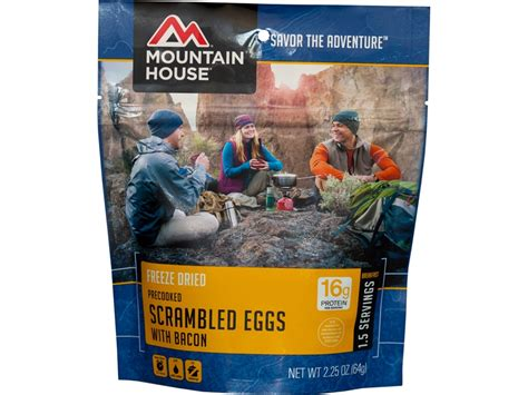 mountain house food mountain house scrambled eggs bacon freeze dried food