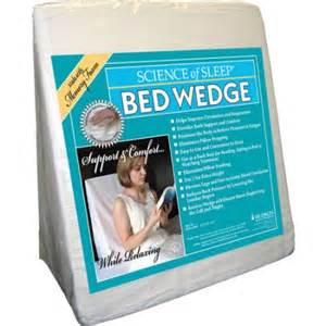 hudson memory foam bed wedge pillow walmart