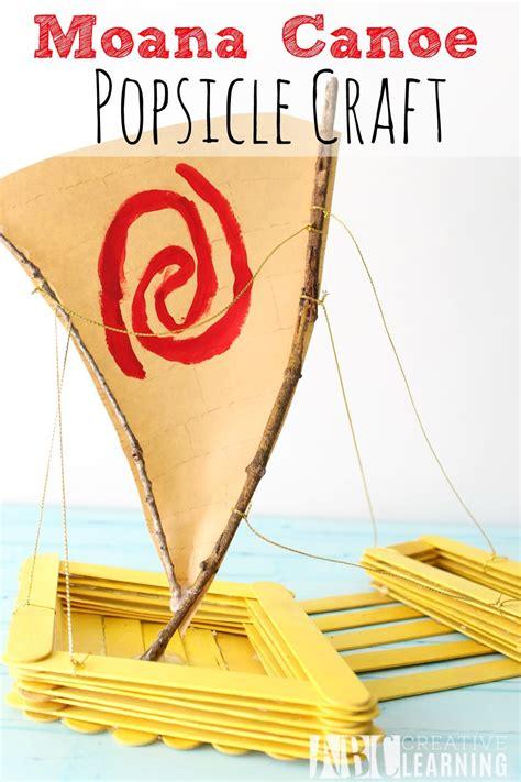 moana boat popsicle sticks moana canoe popsicle craft moana simply today life