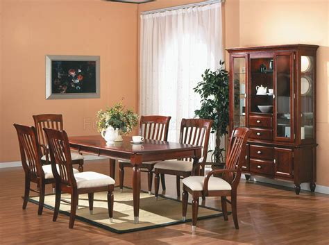 Cherry Dining Room Sets Cherry Finish Traditional 5pc Dining Room Set W Optional Items