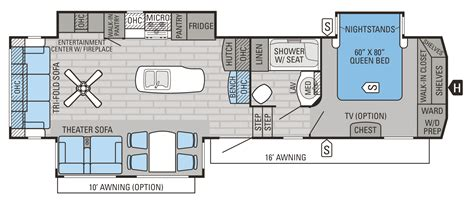 fifth wheel toy hauler floor plans jayco fifth wheel toy hauler floor plans wow blog