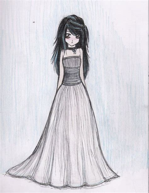 Drawing Dresses by Dresses Drawings Dress Sketch By Beckaneechan On