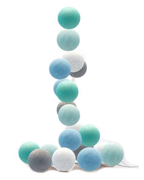 lichterkette kinderzimmer blau moods led lichterkette cotton balls hellblau mint