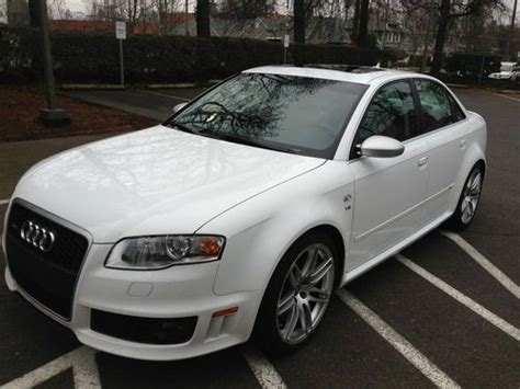automotive air conditioning repair 2008 audi rs4 engine control sell used 2008 audi rs4 sedan rare ibis white 43k miles excellent condition in portland oregon