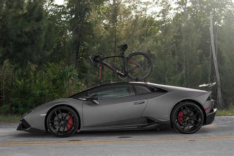 lamborghini bike lamborghini huracan carrying a bicycle would be an