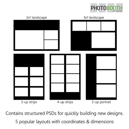 photo layout exles photo booth templates starter pack pbo design shop